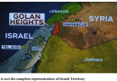 President Trump recognizes Golan Heights to be the permanent part of Israel