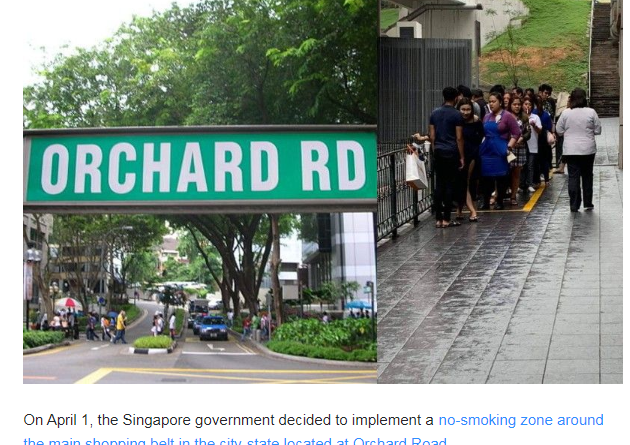 Smokers humiliated by Singapore